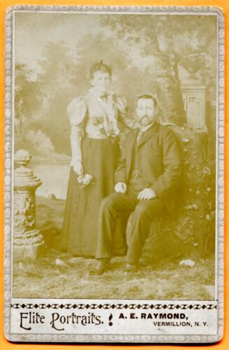 Vermillion, NY, Portrait of a Couple, by Raymond, circa 1890s