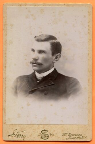 Albany, NY, Portrait of a Young Man, by Sterry, circa 1880s