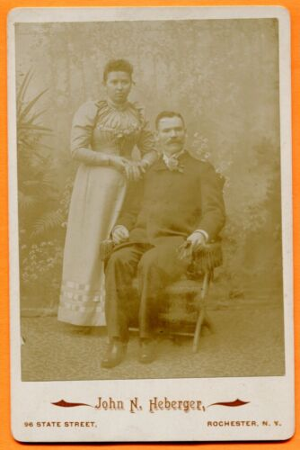 Rochester, NY, Portrait of a Couple, by Heberger, circa 1890s