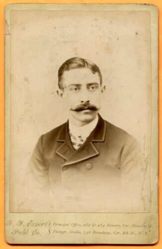 New York, NY, Portrait of Young Man, by New York Export, circa 1880s