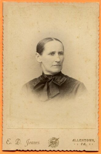 Allentown, PA, Portrait of a Young Woman, by Jeanes, circa 1880s