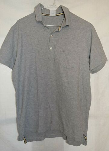 BROOKS BROTHERS SLIM FIT GREY 100% COTTON POLO SHIRT M