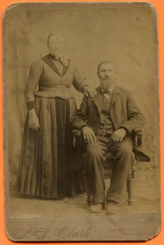 Shawano, WI, Portrait of a Couple, by Clark, circa 1880s