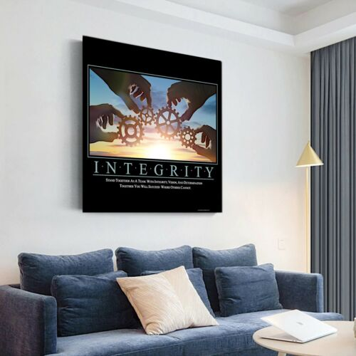INTEGRITY Motivation Quote, Office Home Wall Art Decor Gift Print POSTER CANVAS
