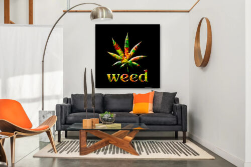 Cannabis Leaf Marijuana Inspiration Weed Home Wall Art Decor POSTER CANVAS