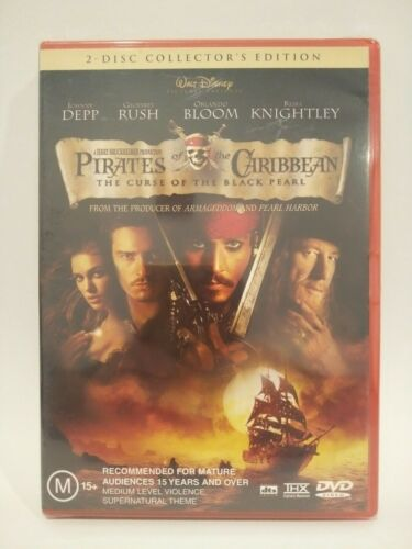 Pirates of The Caribbean - The Curse of the Black Pearl 2 Disc Dvd New Sealed