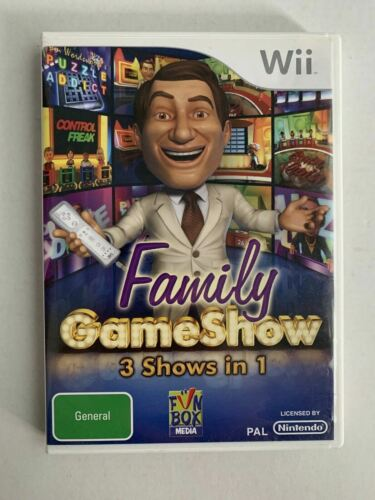 Family Gameshow 3 Shows In 1 - Nintendo Wii Party Game Quiz Game