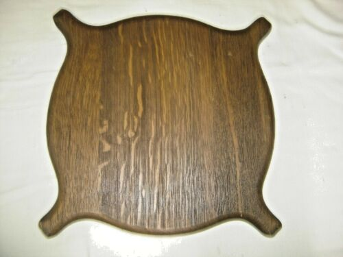 Antique Salvage Oak Turtle-Back Shaped Bottom Shelf for stand table   1422