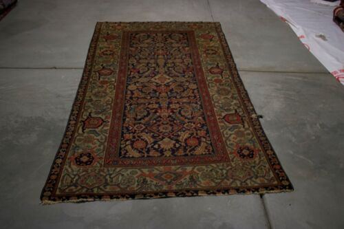 ANTIQUE MALAYER 7X3 HANDMADE  RUG  WOOLONE OF THE KIND RUG  MASTERPIECE