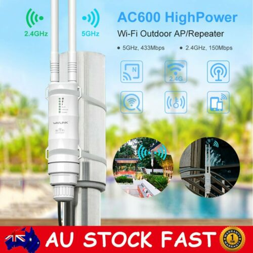 2.4/5Ghz 600Mbps High Power Outdoor WIFI Router Repeater Extender Signal Booster