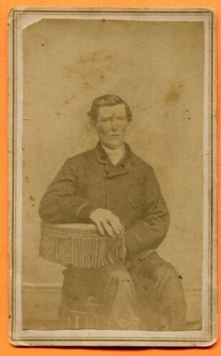 CDV Portrait of a Young Man Seated, circa 1860s