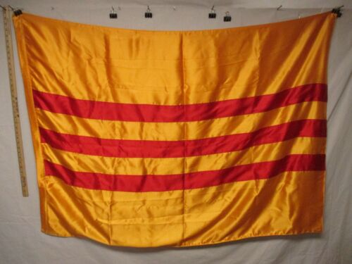 flag1452 Vietnam RVN National Flag Country South 58 x 43 satin W10EReproductions - 156445