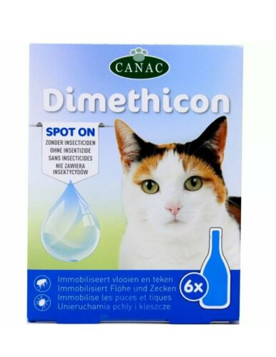 6 Pipettes pour Chat Anti Parasite Puce Tique Spot On Gouttes Dimethicon