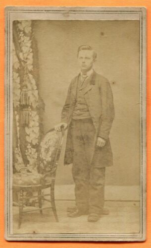 CDV Cleveland, OH, Portrait of a Young Man, by Parker, circa 1860s Backstamp