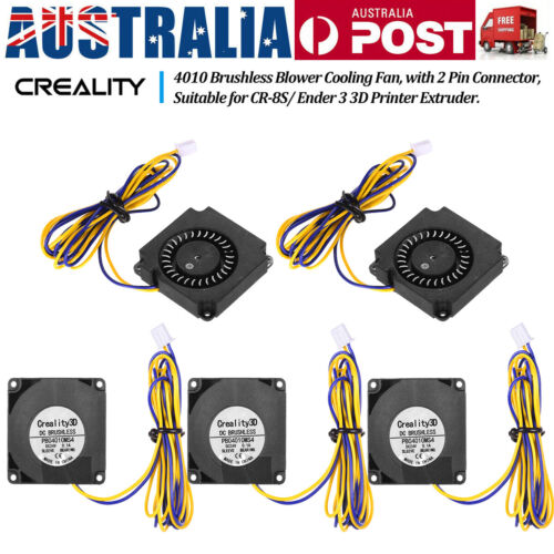 Creality 3D 4010 Brushless Blower Cooling Fan 40*40*10mm 24V 2Pin Connector AU