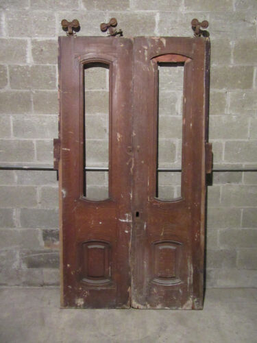 ~ ANTIQUE DOUBLE ENTRANCE FRENCH DOORS ~ 48 x 89 ~ ARCHITECTURAL SALVAGE ~