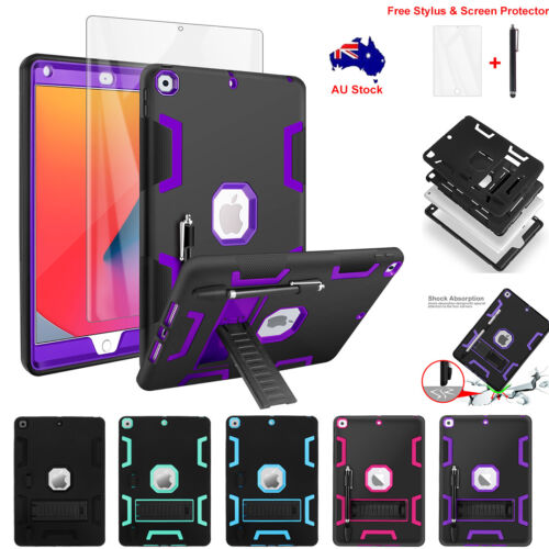 For Apple iPad 10.2'' 2019 7th Gen Case Hybrid Heavy Duty Shockproof Stand Cover