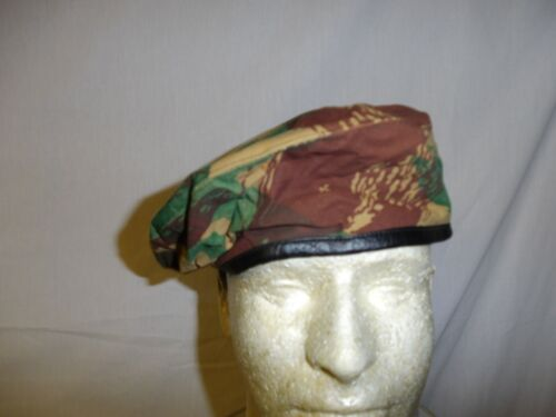 e4342-60 French Algerian War Camouflage Camo Beret size 60 W8BReproductions - 156449