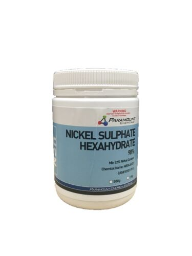 NICKEL SULFATE Or SULPHATE 99% 500gms Electroplating. FREE POSTAGE AUS