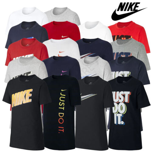 Boys Nike T Shirts Tops Short Sleeve Kids Junior Tee Age 8 9 10 11 12 13 14 Yrs