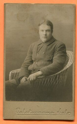 CDV Finland Portrait of a Young Man, ID'd, by Salo, circa 1890s
