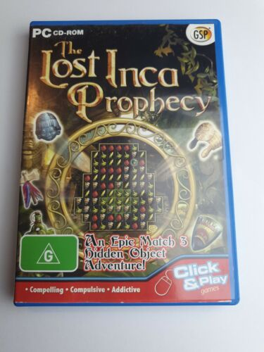 The Lost Inca Prophecy Game PC Match 3 Hidden Object Puzzle Mystery Adventure