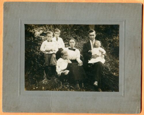 Portrait of a Family, circa 1910 Large Cabinet Card, Probably West Virginia