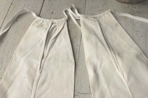 Antique French under skirt pockets 18th century textiles clothing pocket linen