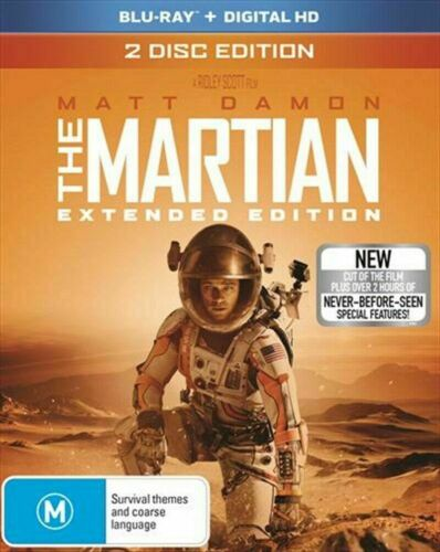 The Martian - (2 Disc Extended Cut) BLU RAY BRAND NEW SEALD