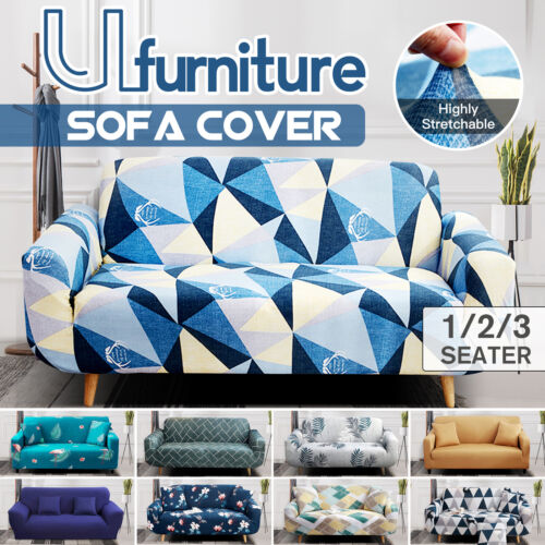 1/2/3 Seater Sofa Covers Stretch Slipcover Protector Lounge Couch Recliner Chair <br/> 10 Styles✔1/2/3 Seater ✔Free pillow case ✔Top Quality ✔