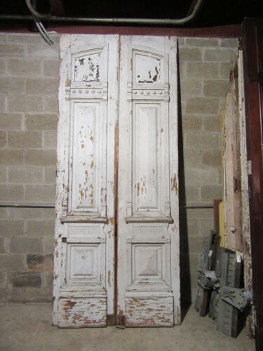 ~ HUGE ANTIQUE DOUBLE ENTRANCE FRENCH DOORS ~ 52 x 123 ~ ARCHITECTURAL SALVAGE