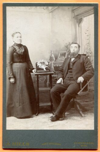 Cleveland, WI, Portrait of a Couple, by Hills, circa 1890s