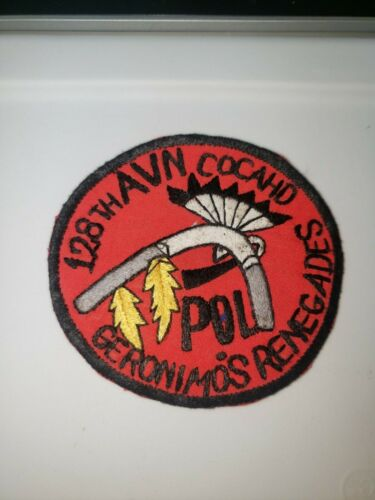K0499 Vietnam US Army POL Refuelers 128th Aviation Company Patch IR39AReproductions - 156445