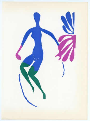 """Henri Matisse lithograph printed by Mourlot """"Blue Nude""""  3008"""