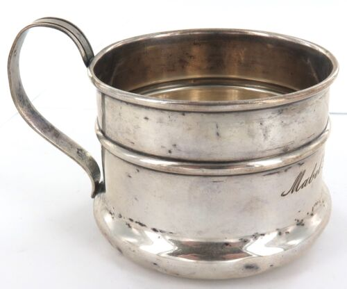 .1906 - 1914 USA ALBERT J GANNON STERLING SILVER CHRISTENING CUP + NAME.