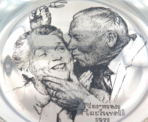 """.1971 FRANKLIN MINT """"NORMAN ROCKWELL"""" STERLING SILVER LIMITED EDITION PLATE."""