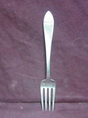 "Tiffany & Co Sterling Pat 1870 QUEEN ANNE SERVING FORK 8 3/4"" 82g mono L"