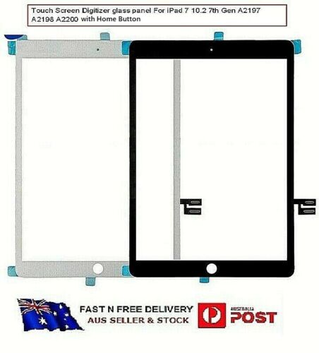 """For iPad 7 Touch Screen Digitizer with Home Button 10.2"""" A2197 A2198 A2200"""