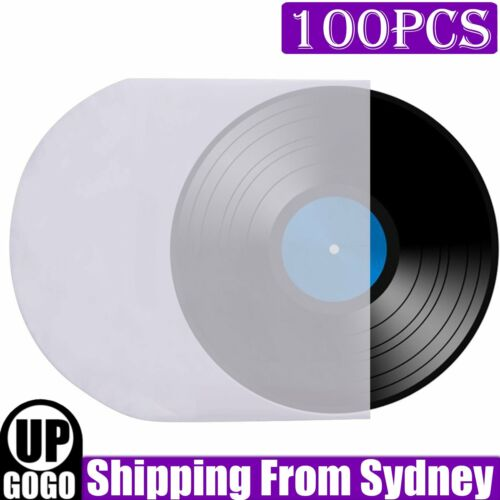 """100pcs Sleeves Inner LP Music Durable for 12"""" Vinyl Record Plastic Record Cover"""