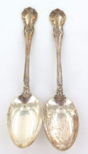 "TOWLE STERLING SILVER ""OLD MASTER"" PATTERN LARGISH SERVING SPOONS."