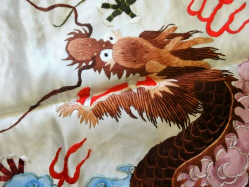 Handwoven Silk Chinese Embroidery - 9 dragons (200 cm x 73 cm) #2