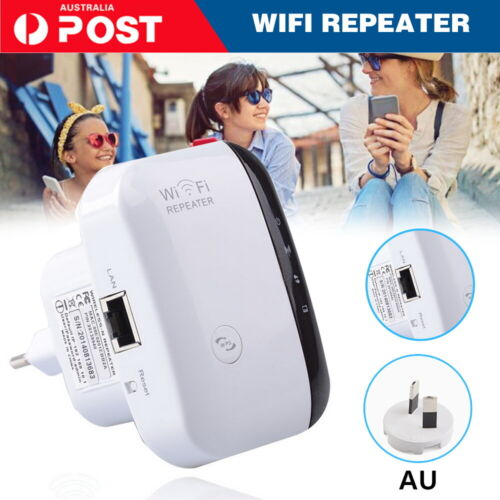 300Mbps Wifi Extender Repeater Range Booster Wireless-N 802.11 AP Router AU Plug