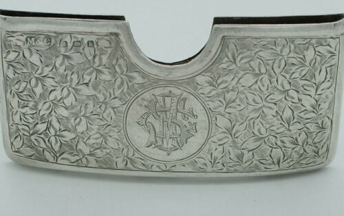 Sterling Silver Calling Card Case with Scrolling Work Birmingham - c.1907