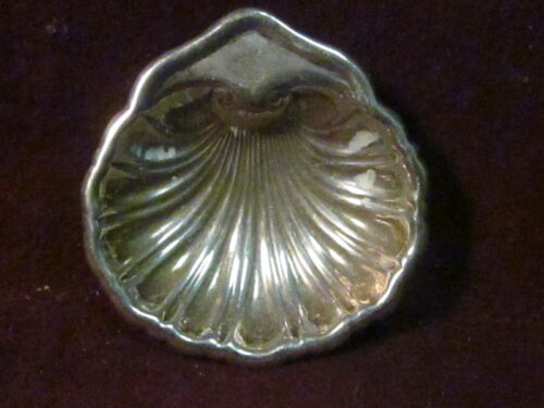 "Sterling Mexico SHELL SALT OR BUTTER DISH  1/2"" x 2"" X 2"" 13g  No Mono"