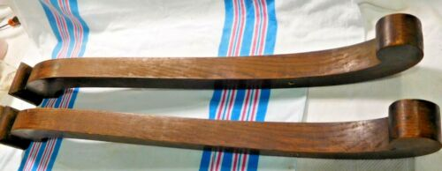 """Antique ~ Salvage ~  Pair Oak Empire Mirror Arms Each base is 3 1/4"""" wide ~ 1824"""