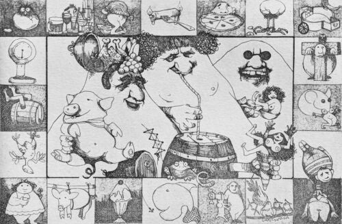 """CHARLES BRAGG """"GLUTTONY"""" 