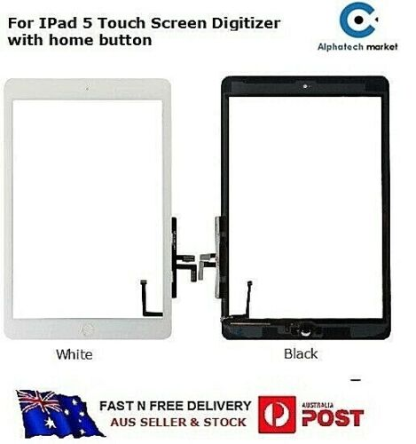 For iPad 5 Touch Screen Digitizer with Home Button A1822, A1823
