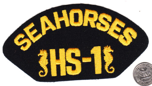 US Navy Hat Patch HS-1 SEAHORSES Helicopter SquadronNavy - 48826