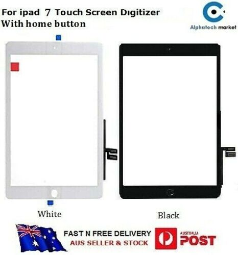 For iPad 7 Touch Screen Digitizer Replacement with home button A2197, A2198