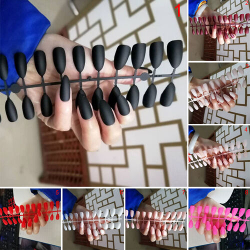24pcs Fashion False Nail Acrylic Gel Full French Fake Nails Art   Tools Ljj.zh